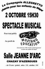 affiche spectacle mustang education compagnie allegretto